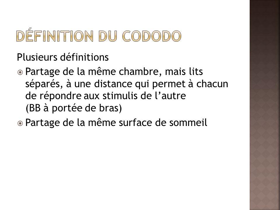 Définition du cododo Plusieurs définitions