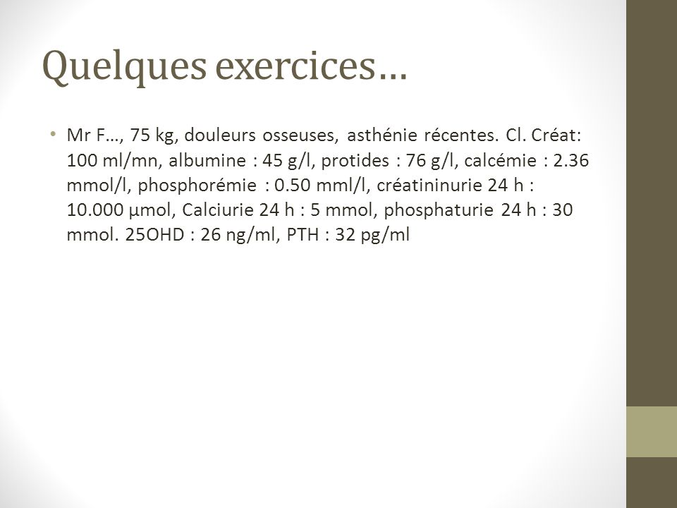 Quelques exercices…