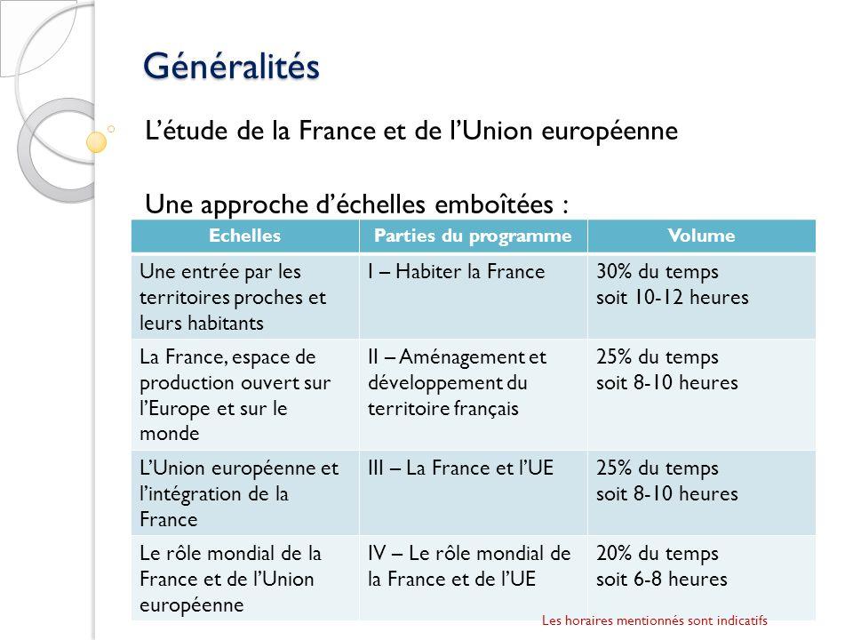 Généralités L'étude de la France et de l'Union européenne