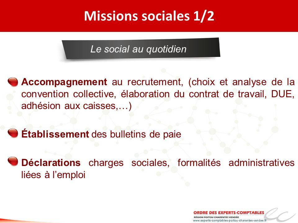 Missions sociales 1/2 Le social au quotidien