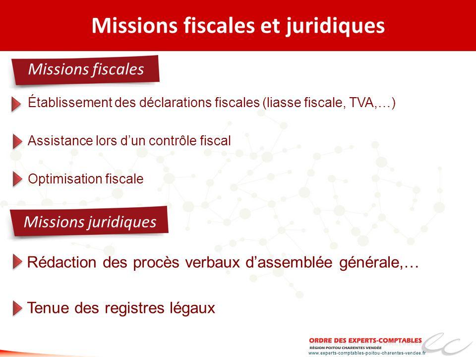 Missions fiscales et juridiques