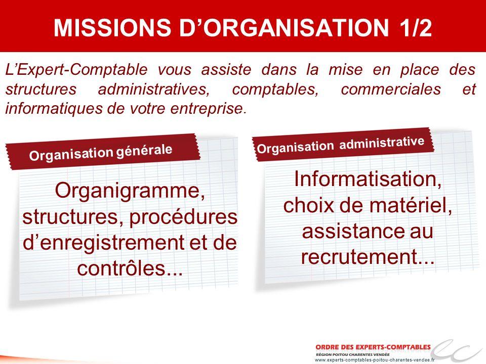 MISSIONS D'ORGANISATION 1/2