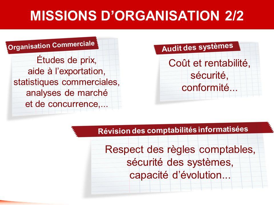 MISSIONS D'ORGANISATION 2/2