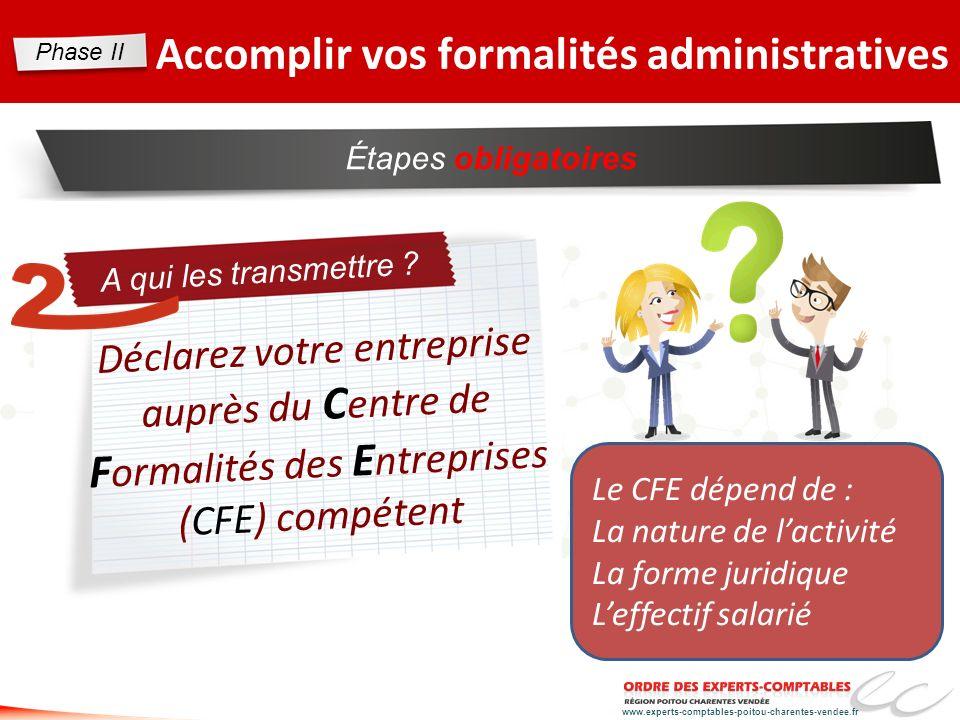 Accomplir vos formalités administratives