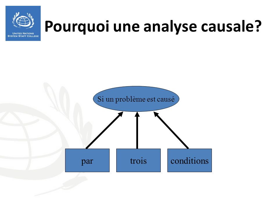 Pourquoi une analyse causale