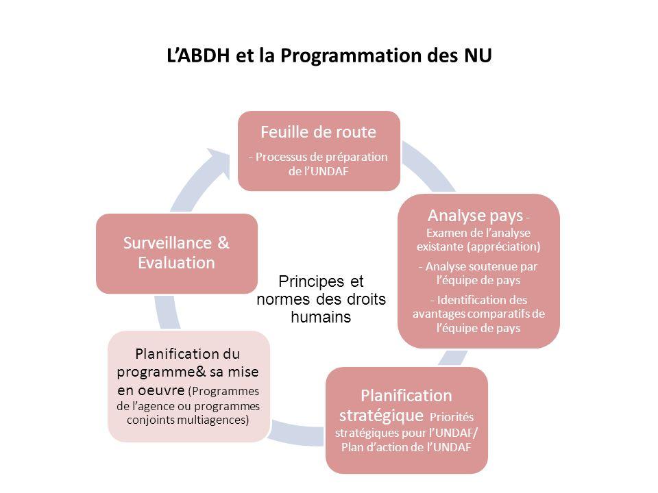 L'ABDH et la Programmation des NU