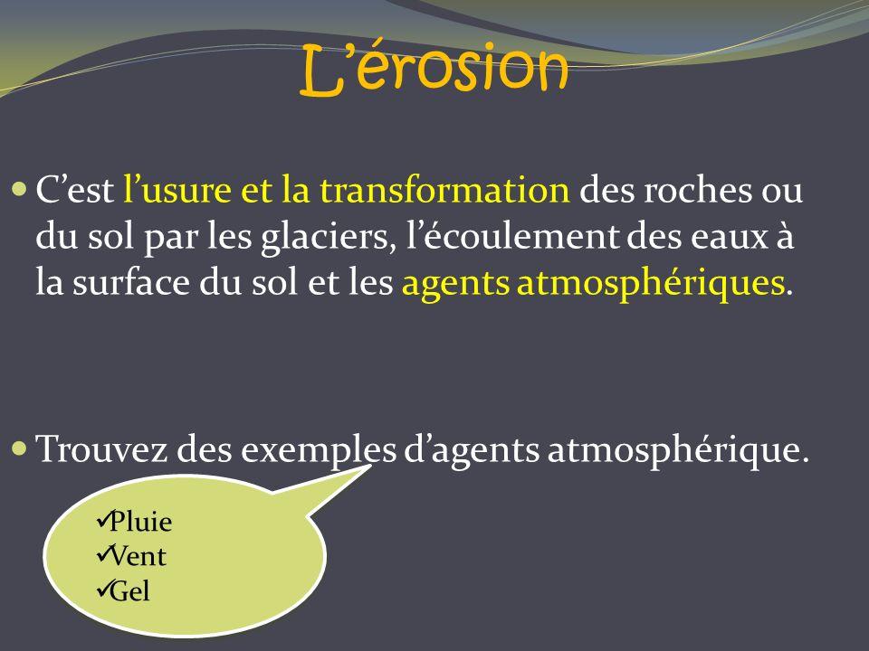 L'érosion