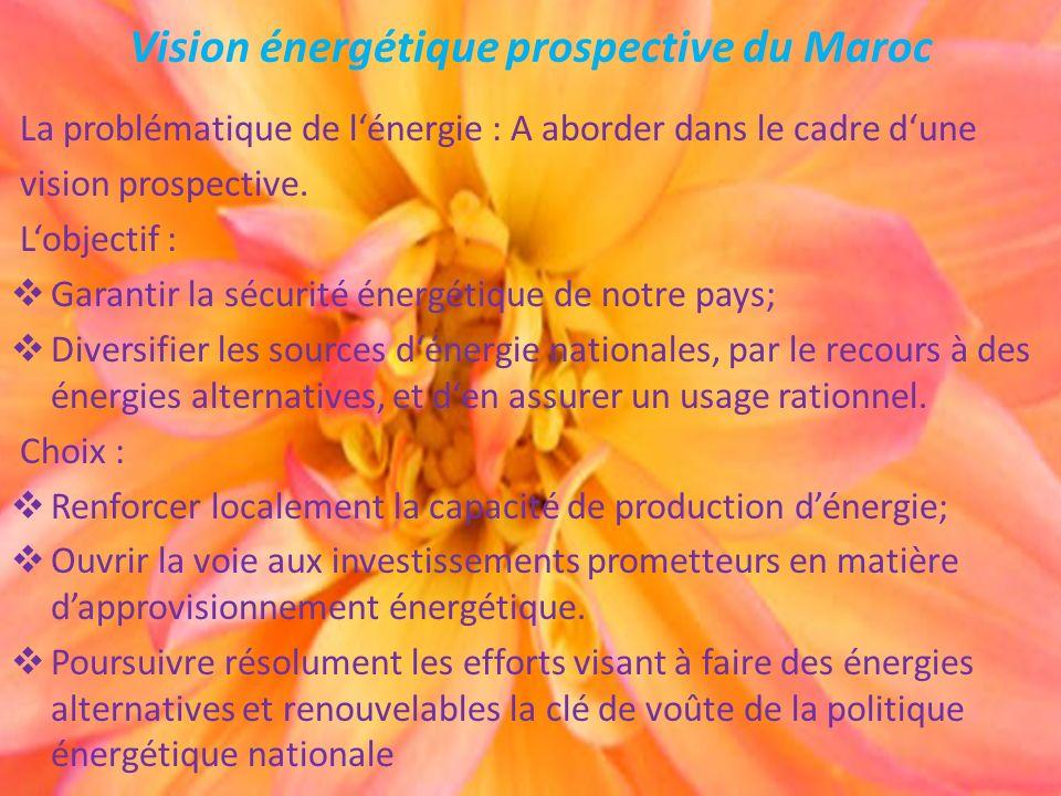 Vision énergétique prospective du Maroc