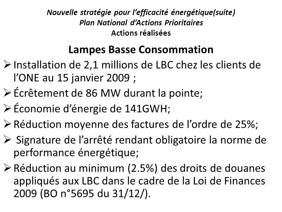 Lampes Basse Consommation