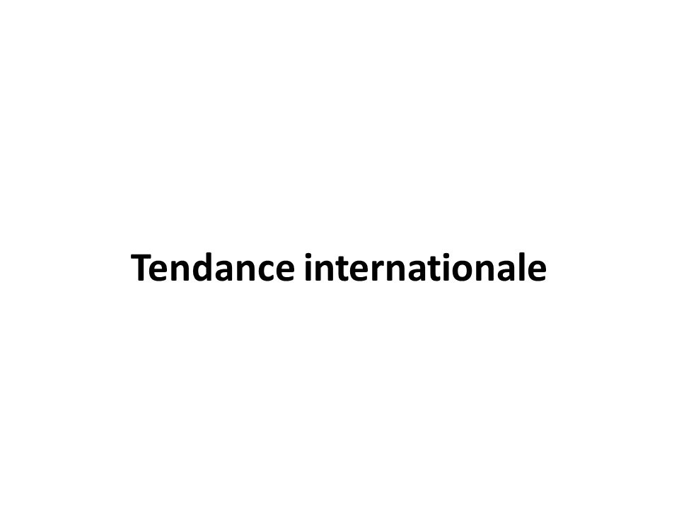 Tendance internationale