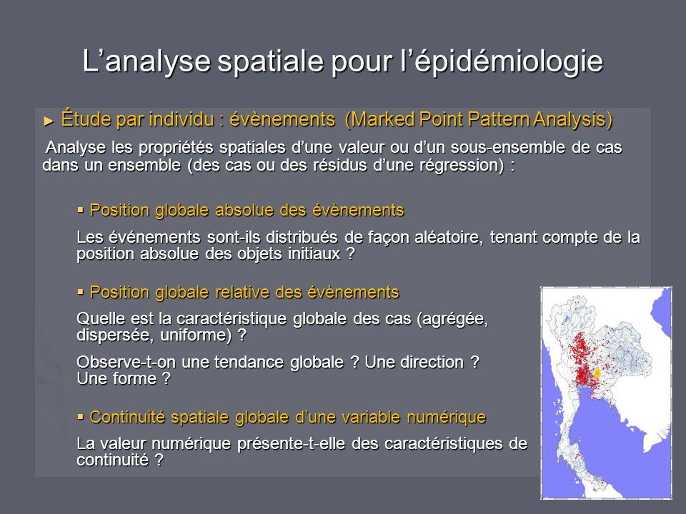 L'analyse spatiale pour l'épidémiologie