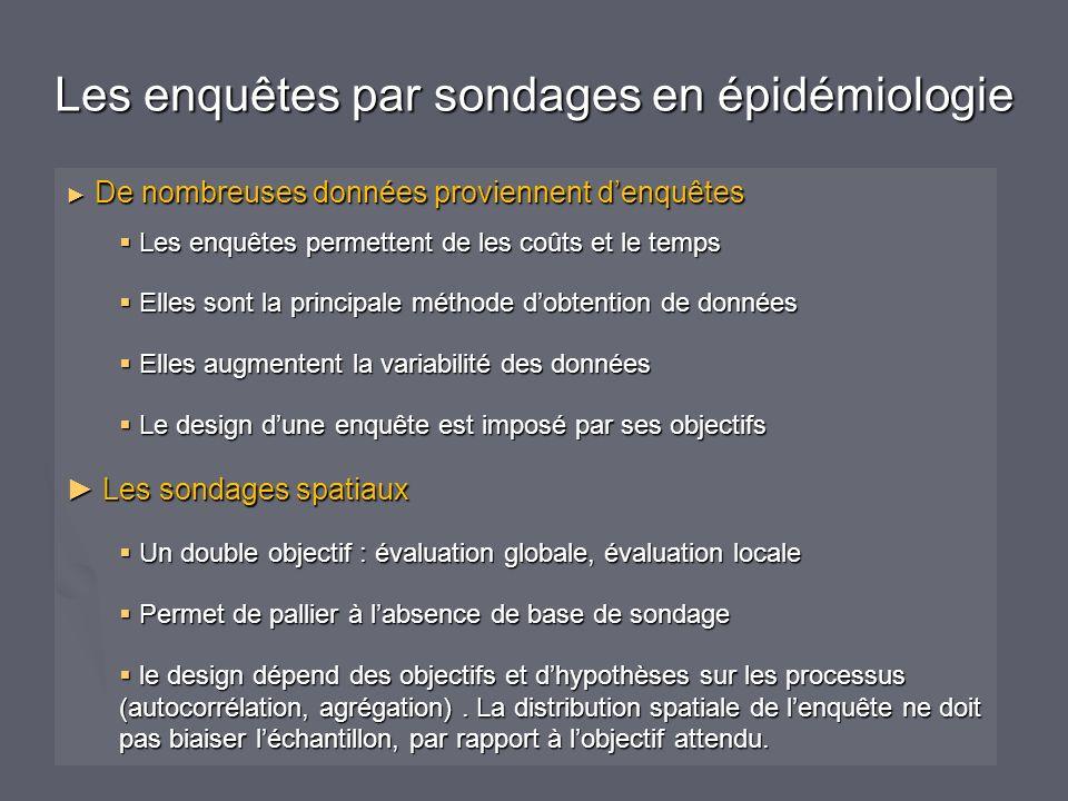Les enquêtes par sondages en épidémiologie
