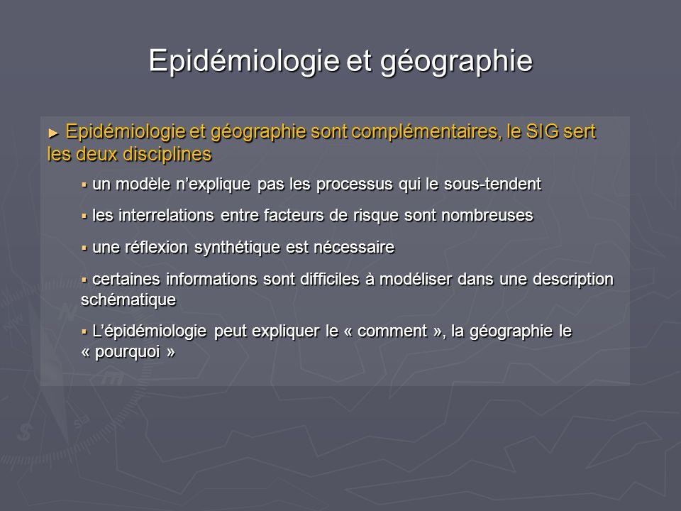 Epidémiologie et géographie