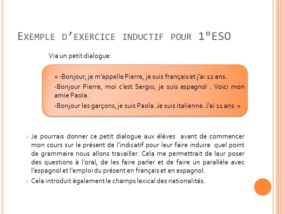 Exemple d'exercice inductif pour 1°ESO