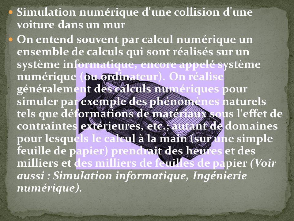 Simulation numérique d une collision d une voiture dans un mur