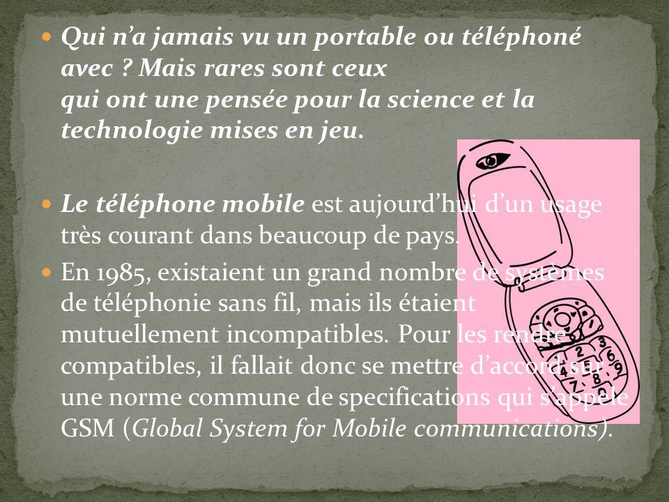 Qui n'a jamais vu un portable ou téléphoné avec
