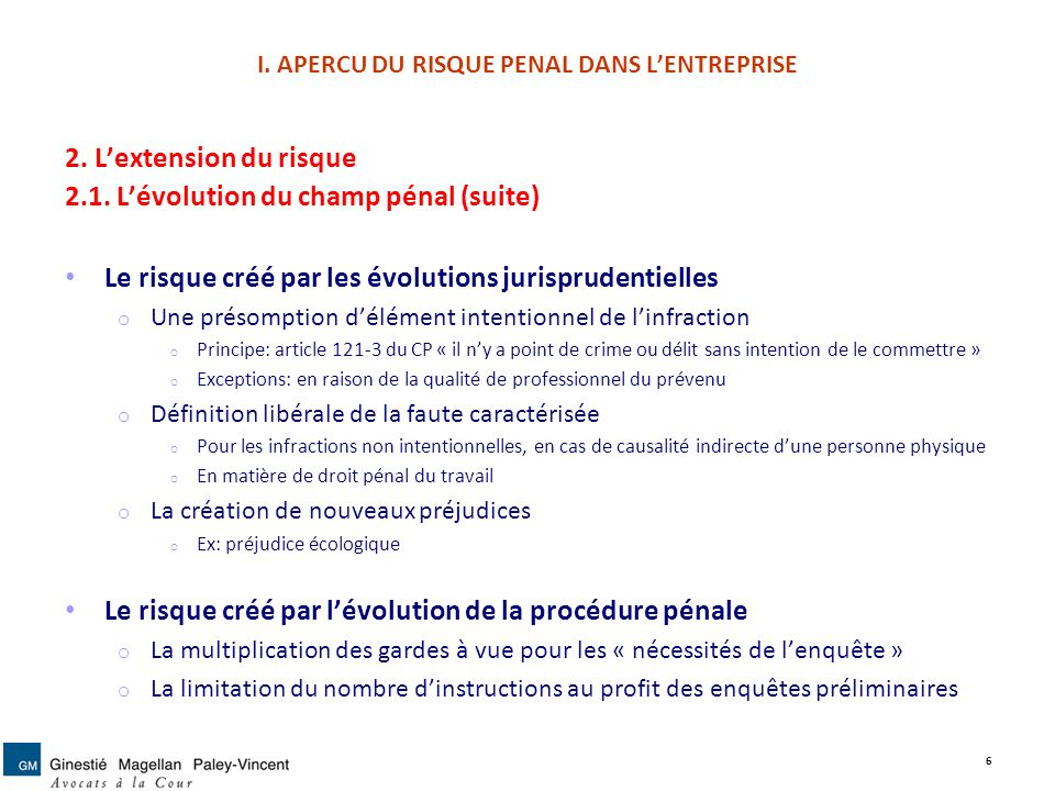 Le risque p nal et ses modes de pr vention dans l for Definition delit