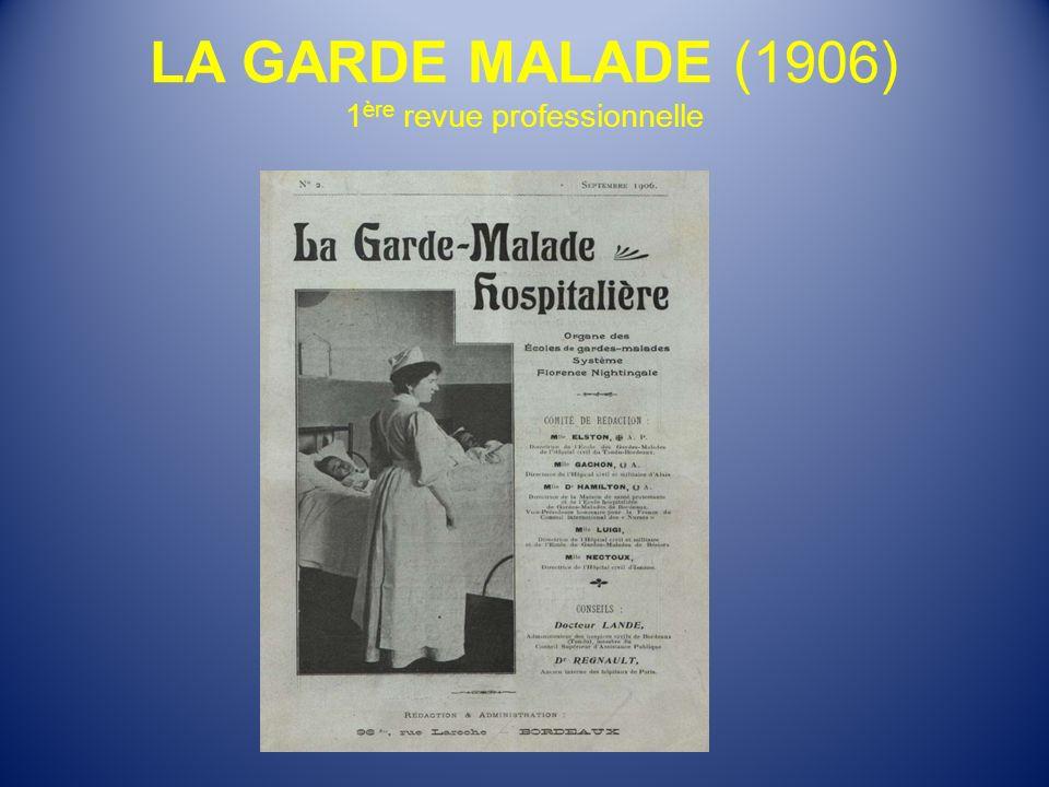 LA GARDE MALADE (1906) 1ère revue professionnelle