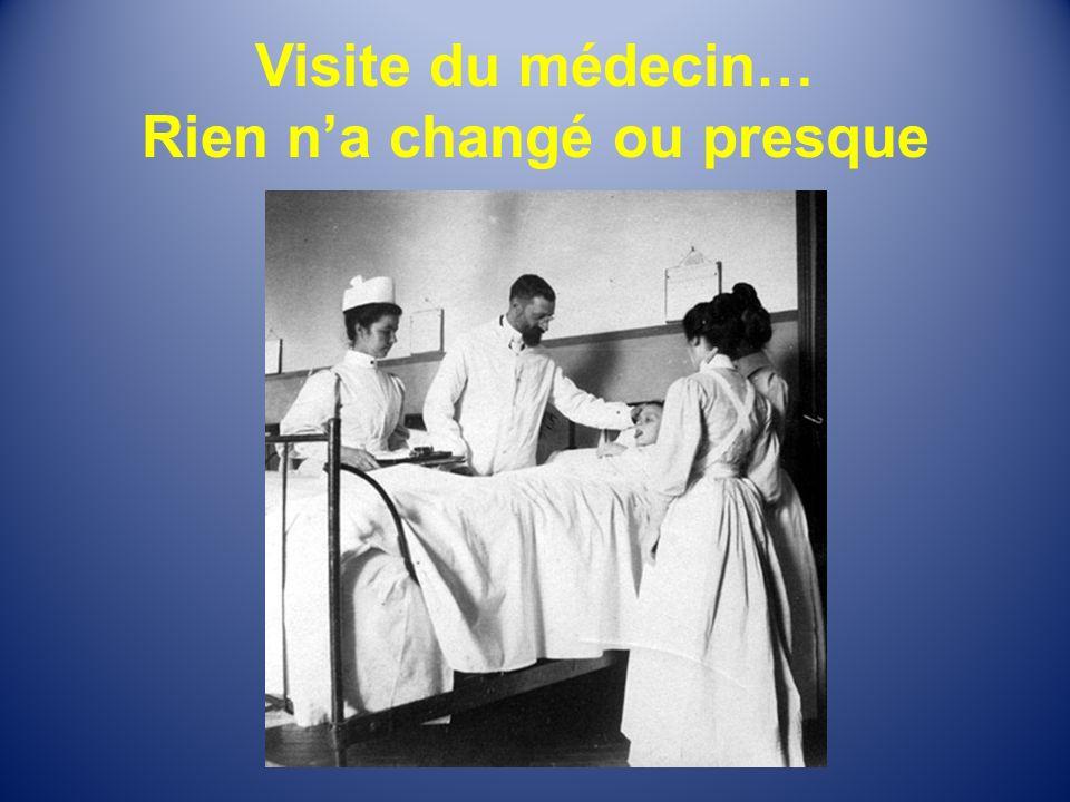 Visite du médecin… Rien n'a changé ou presque