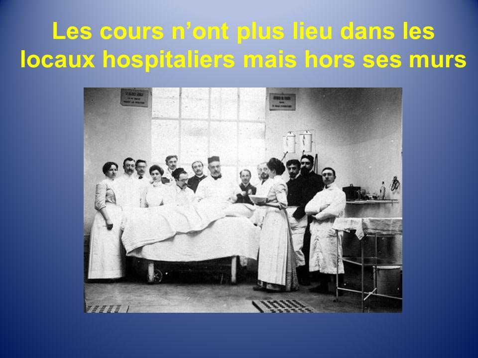 Les cours n'ont plus lieu dans les locaux hospitaliers mais hors ses murs