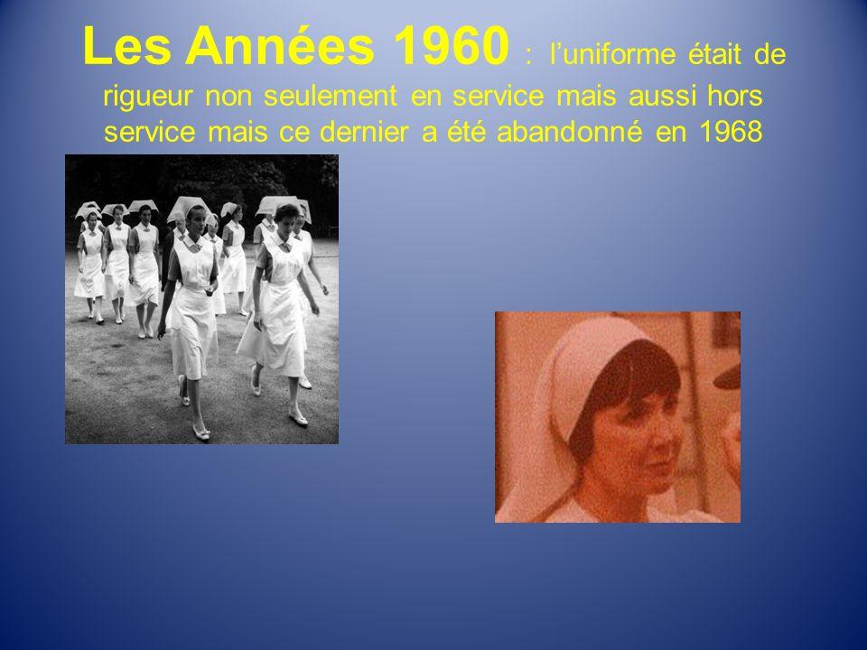 Les Années 1960 : l'uniforme était de rigueur non seulement en service mais aussi hors service mais ce dernier a été abandonné en 1968