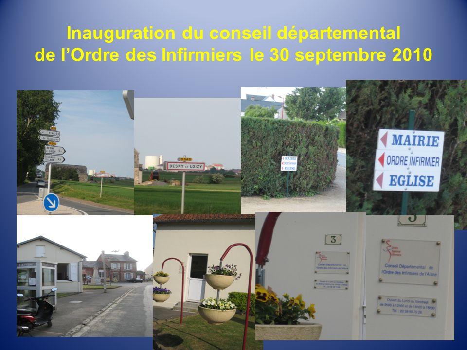 Inauguration du conseil départemental de l'Ordre des Infirmiers le 30 septembre 2010