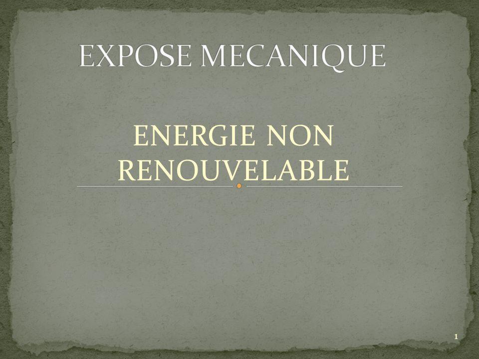 ENERGIE NON RENOUVELABLE