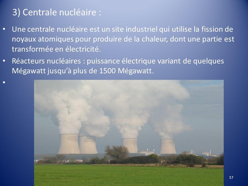 3) Centrale nucléaire :