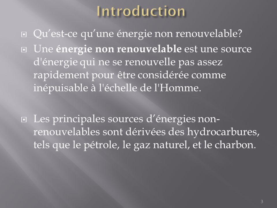 Introduction Qu'est-ce qu'une énergie non renouvelable