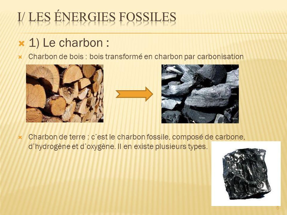 I/ Les énergies fossiles