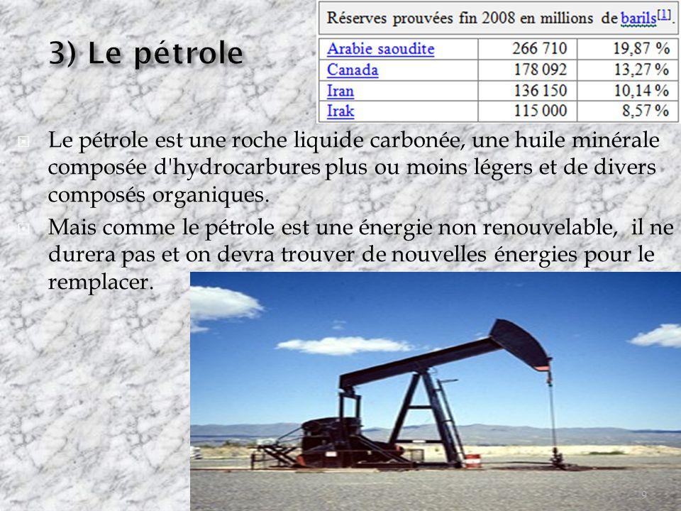 3) Le pétrole