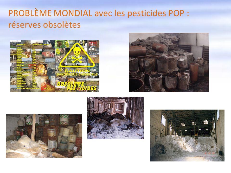 PROBLÈME MONDIAL avec les pesticides POP : réserves obsolètes