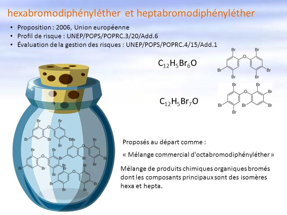 hexabromodiphényléther et heptabromodiphényléther