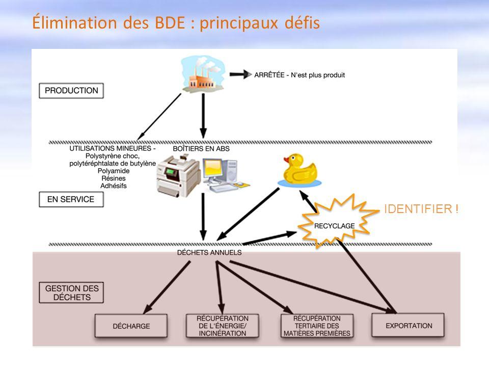 Élimination des BDE : principaux défis