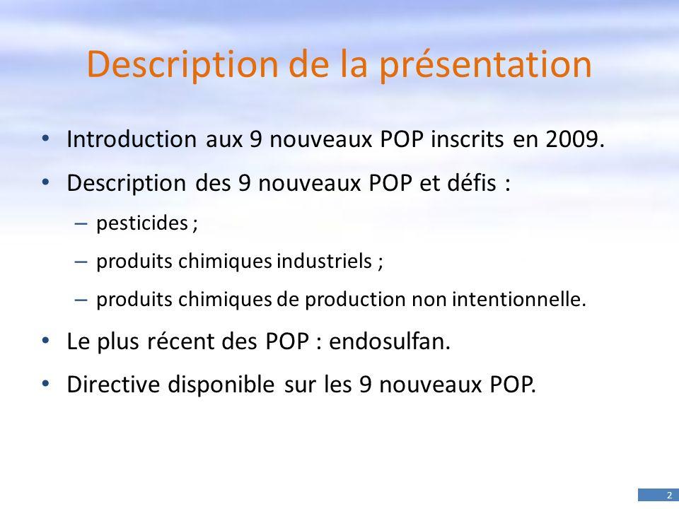 Description de la présentation