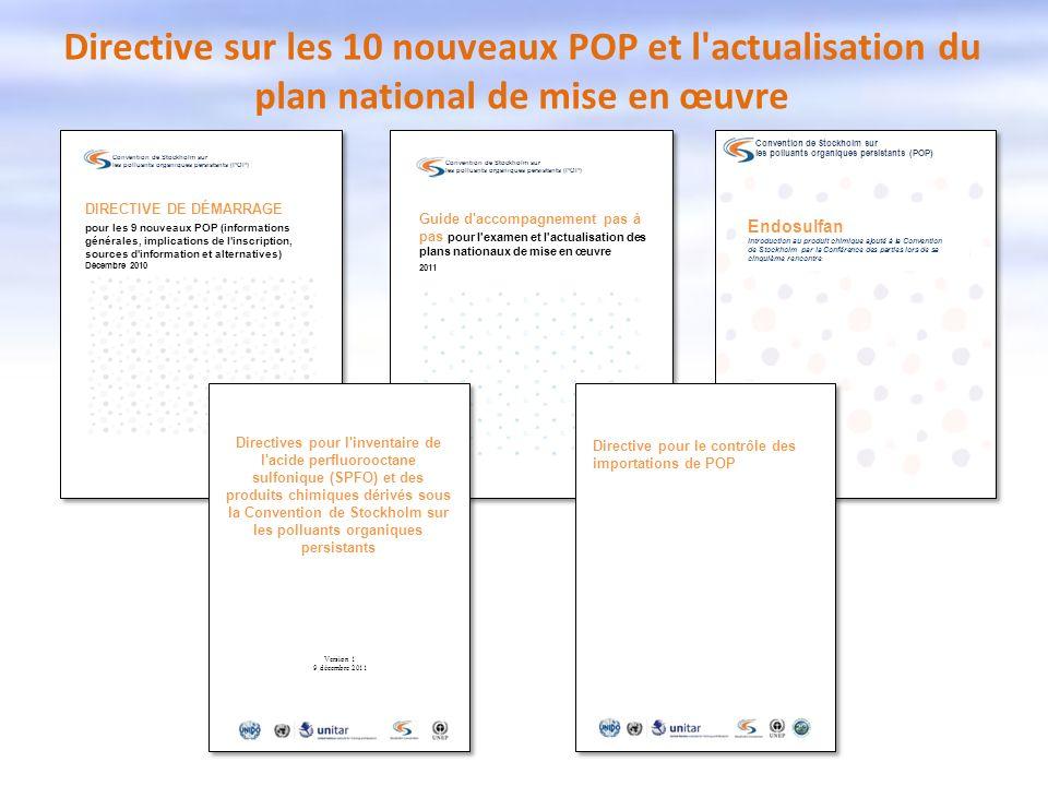 Directive sur les 10 nouveaux POP et l actualisation du plan national de mise en œuvre