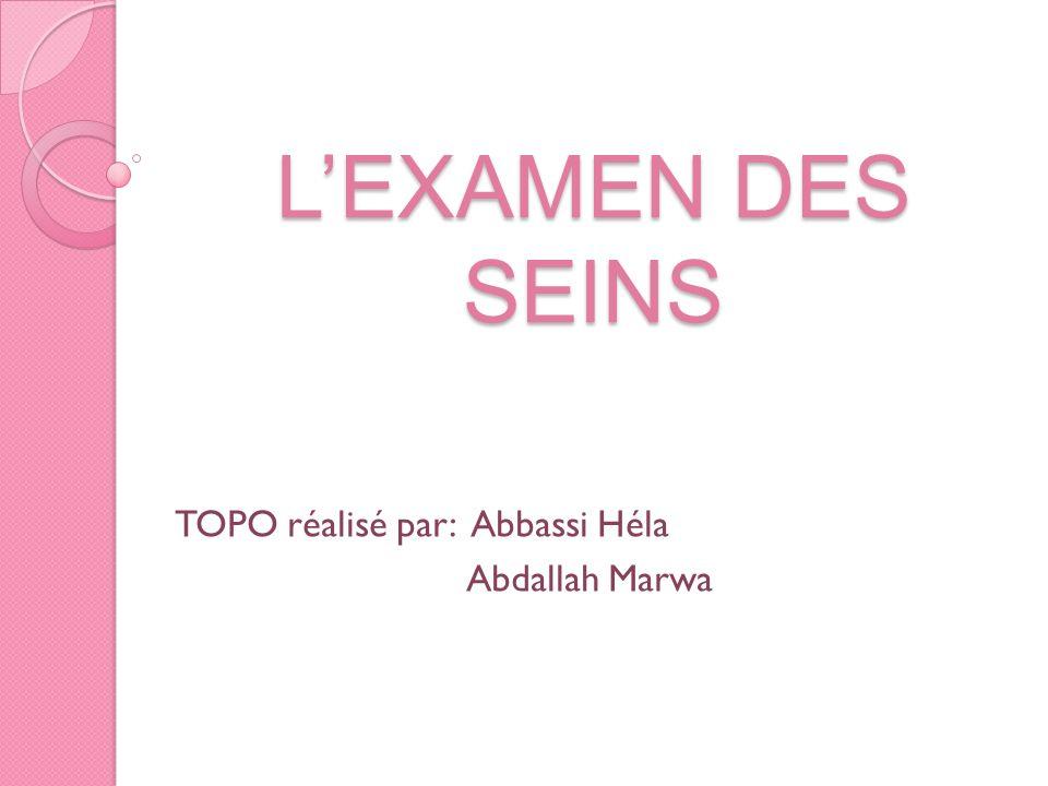 TOPO réalisé par: Abbassi Héla Abdallah Marwa