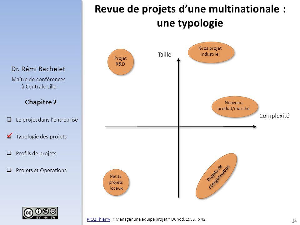 Revue de projets d'une multinationale : une typologie