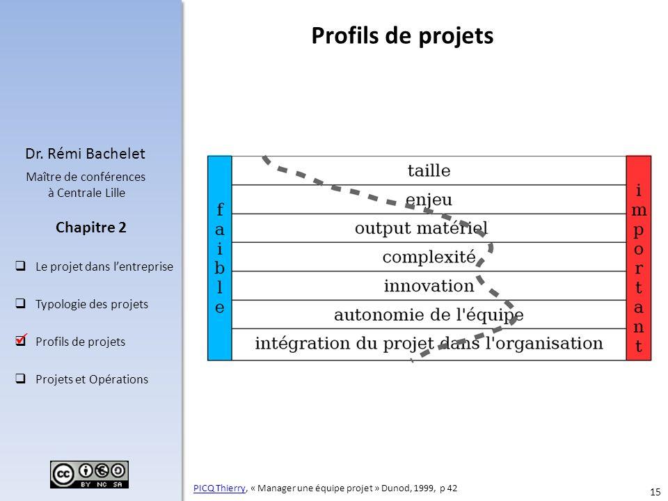 Profils de projets  On le voit, chaque projet est un cas particulier, polysémique.