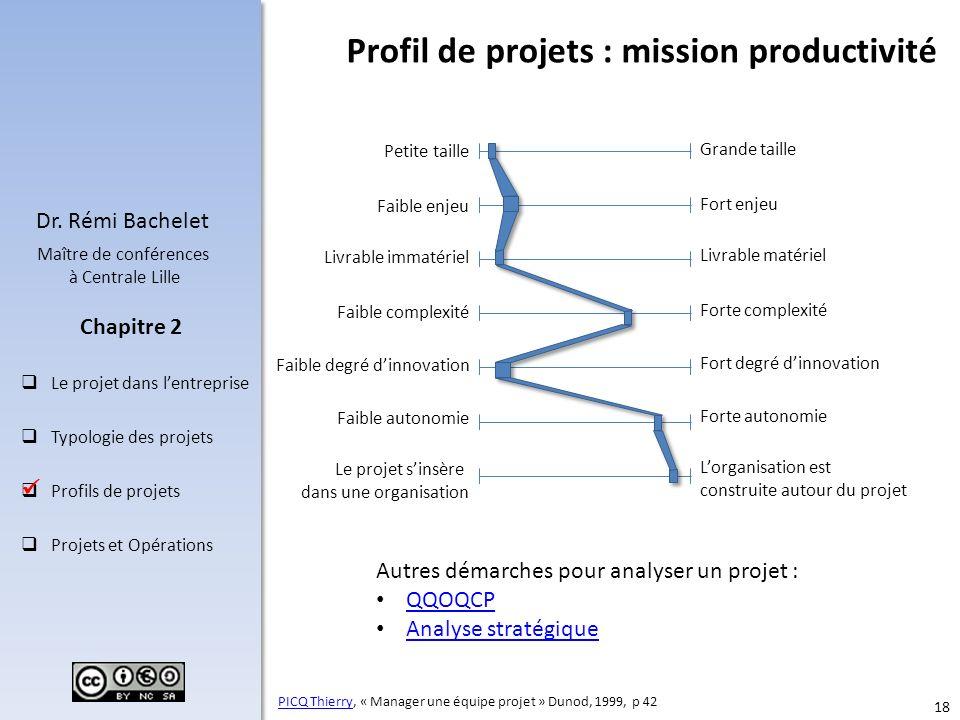Profil de projets : mission productivité