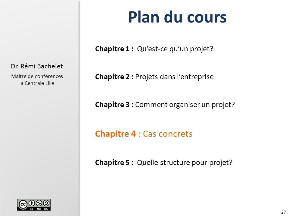 Plan du cours Chapitre 4 : Cas concrets