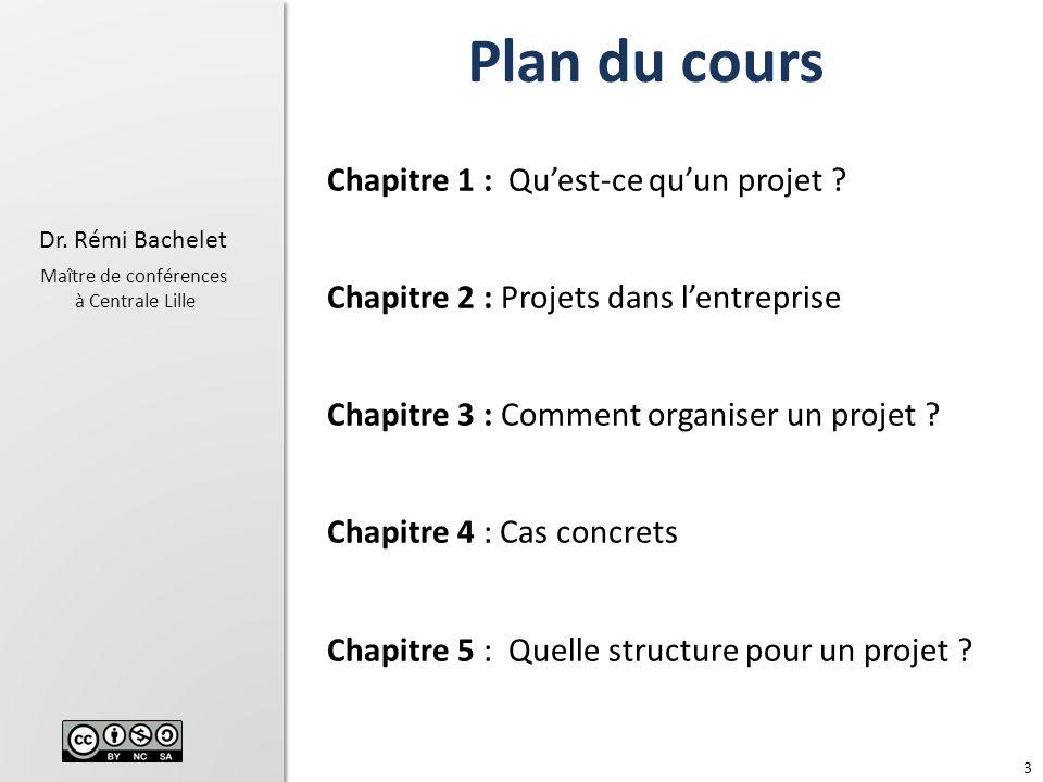 Plan du cours Chapitre 1 : Qu'est-ce qu'un projet