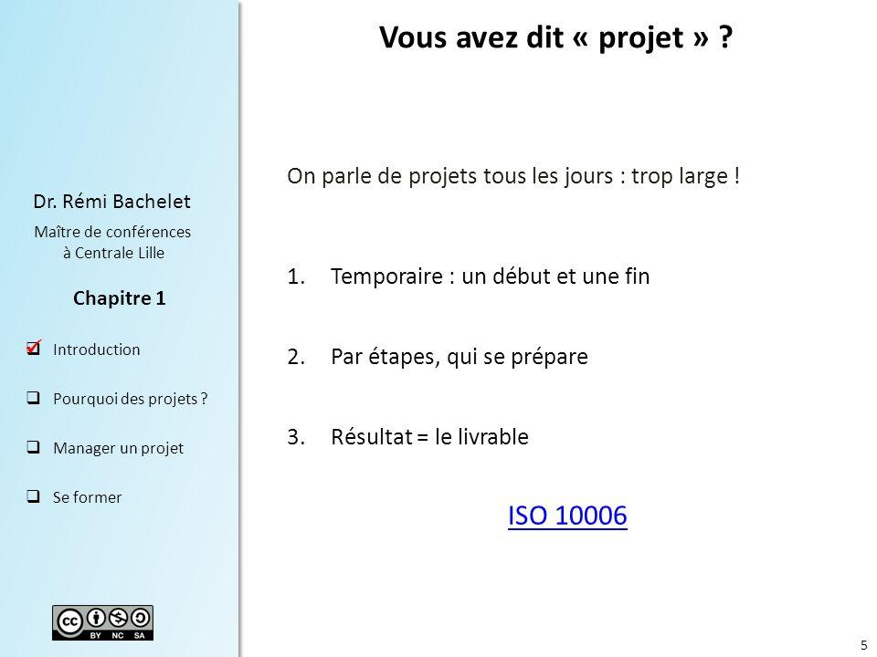 Vous avez dit « projet » ISO 10006