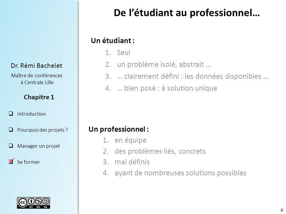 De l'étudiant au professionnel…
