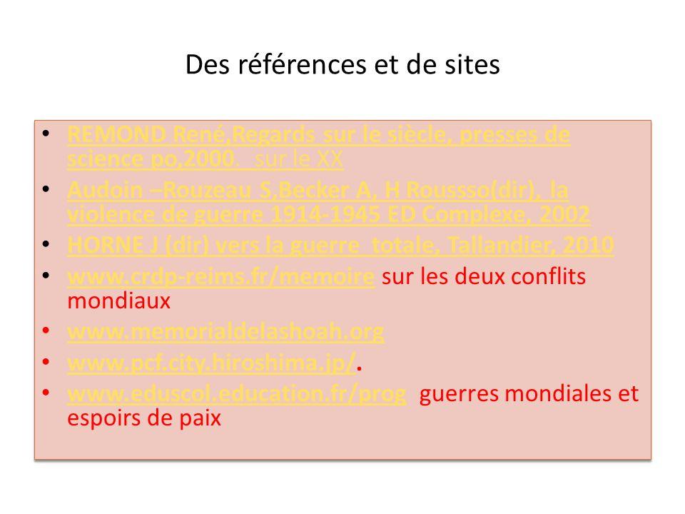 Des références et de sites