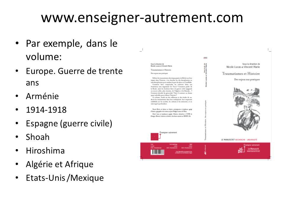 www.enseigner-autrement.com Par exemple, dans le volume: