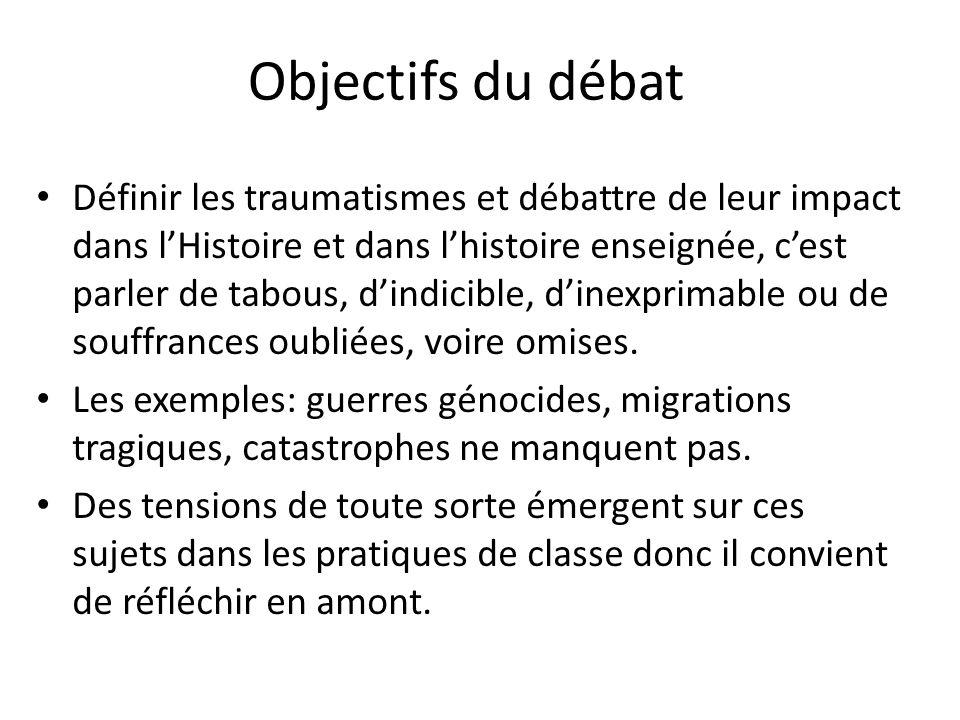Objectifs du débat