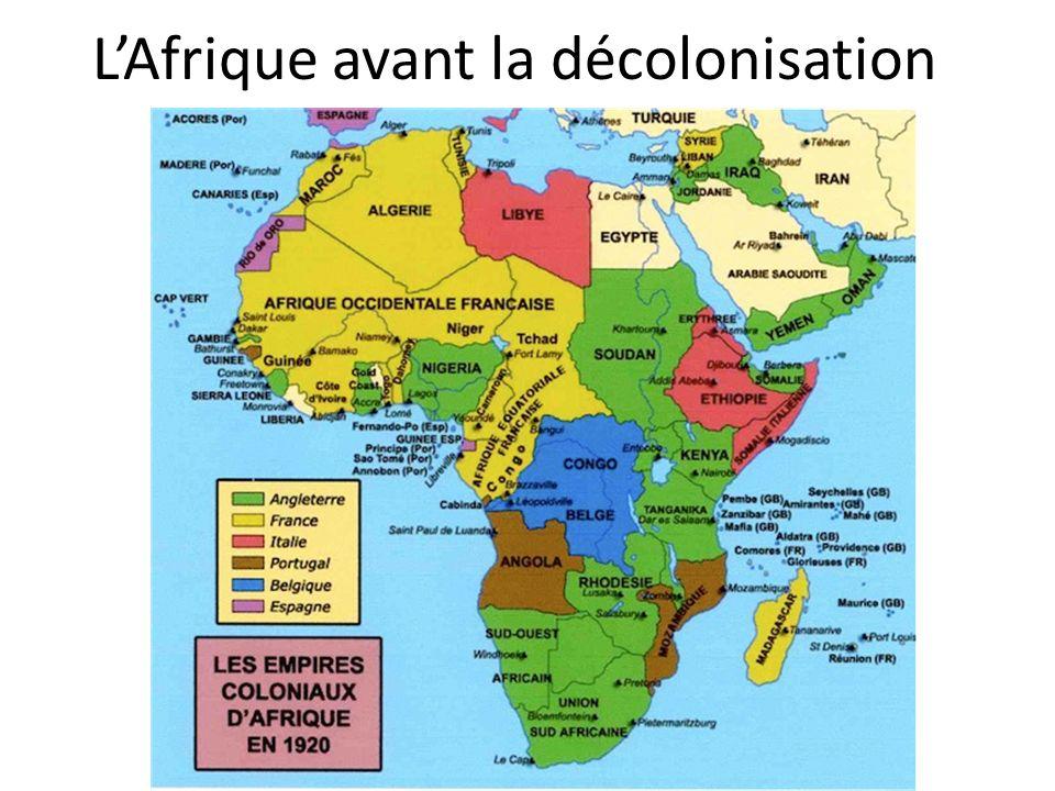 L'Afrique avant la décolonisation