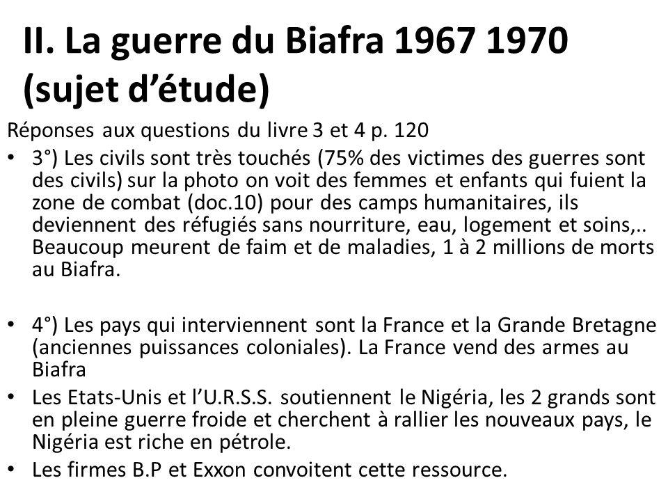 II. La guerre du Biafra 1967 1970 (sujet d'étude)
