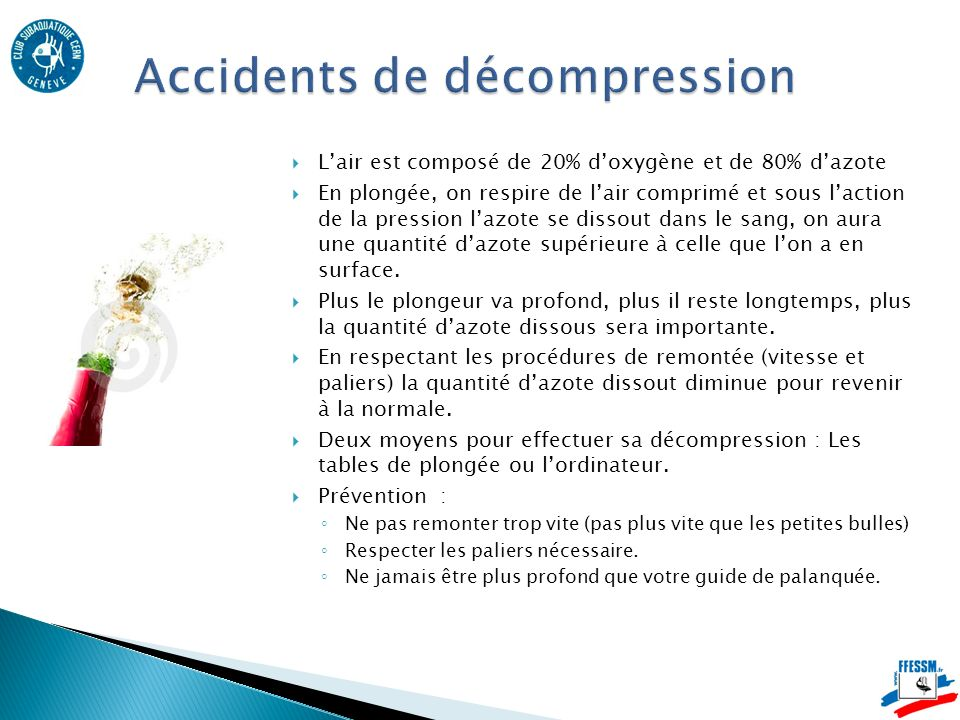 Accidents de décompression